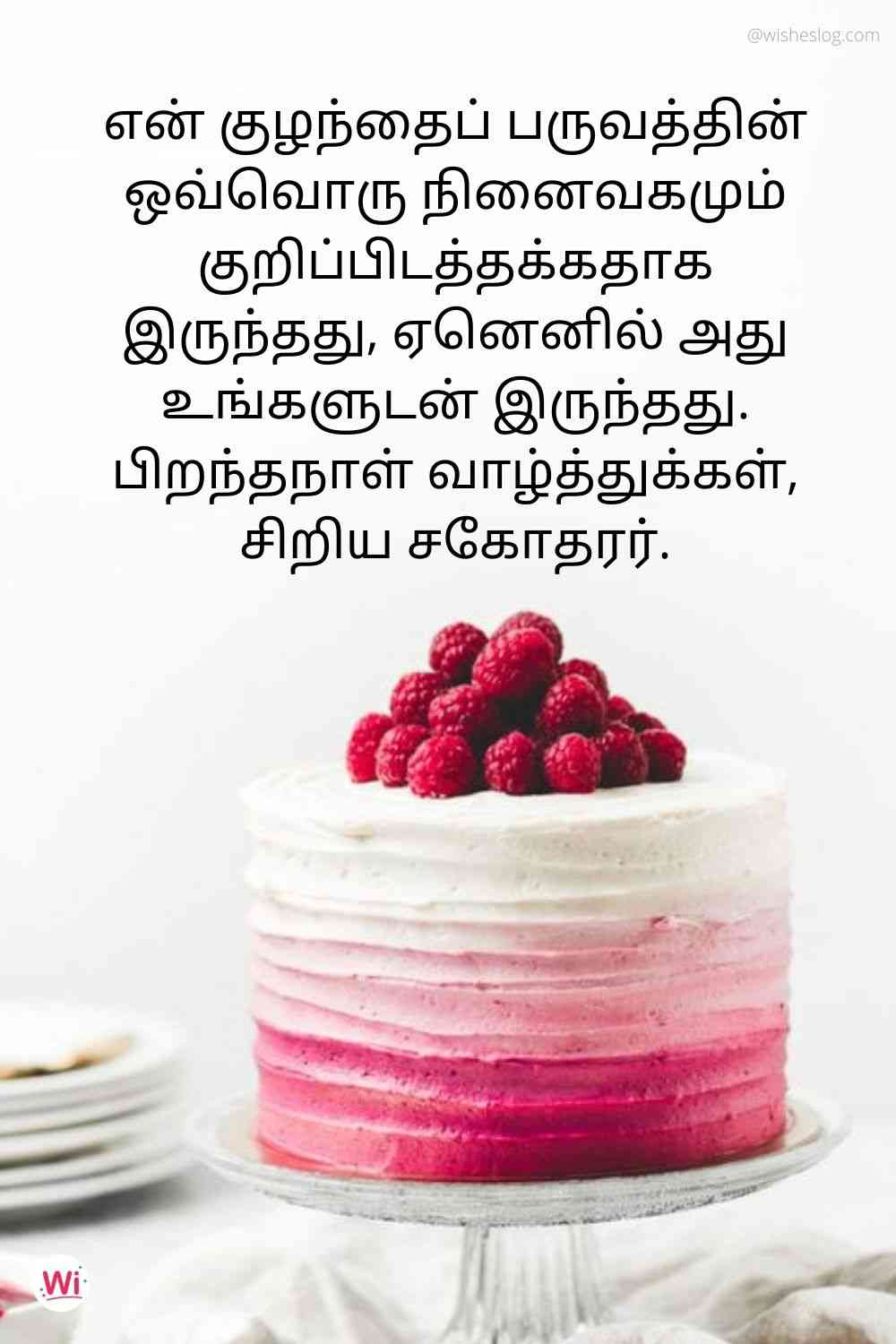 birthday quotes in tamil for younger bro
