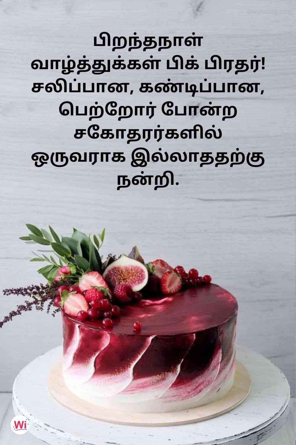 birthday wishes for elder brother in tamil