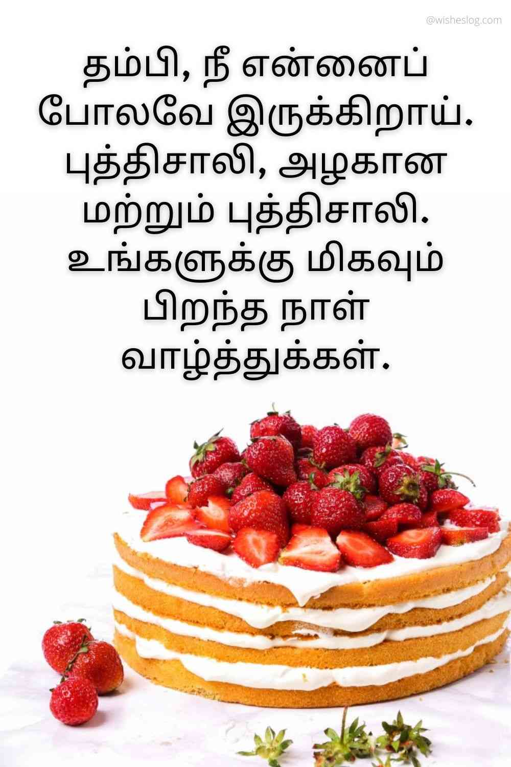 happy birthday wishes in tamil for brother