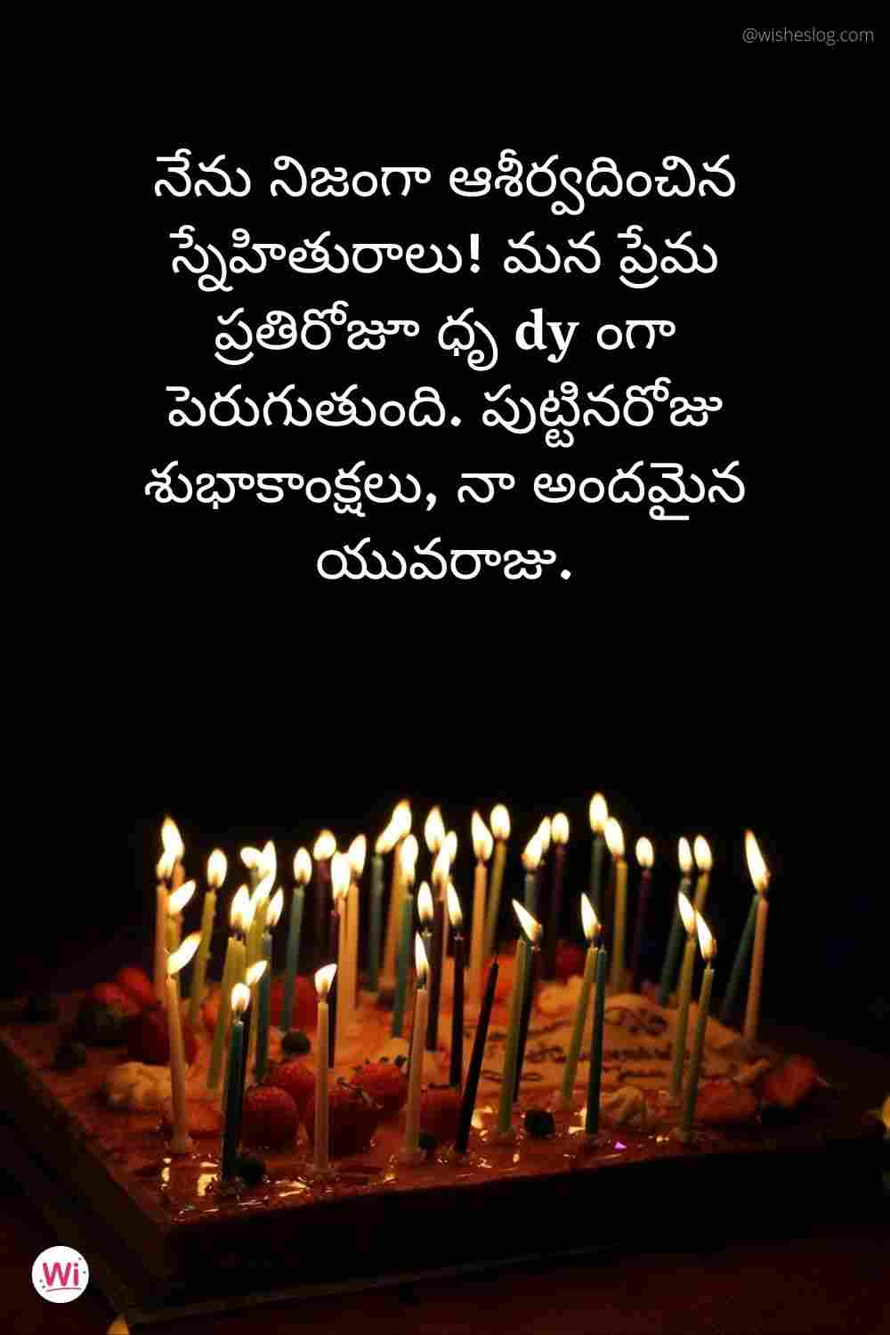 happy birthday wish in telugu