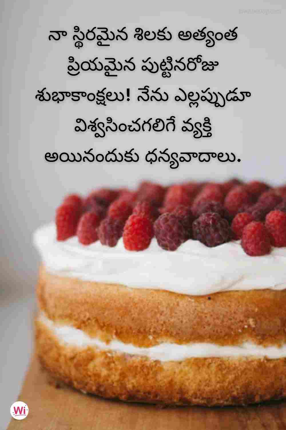 happy birthday wishes in telugu text