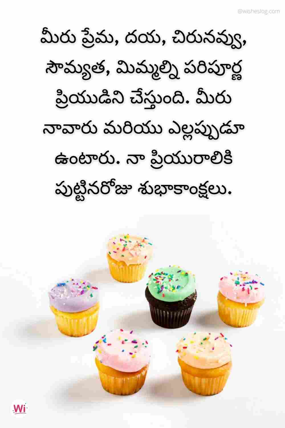 wish you happy birthday in telugu