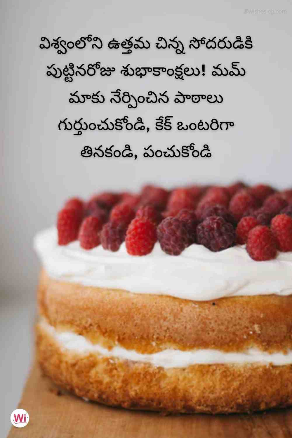 birthday quotes in telugu for younger brother