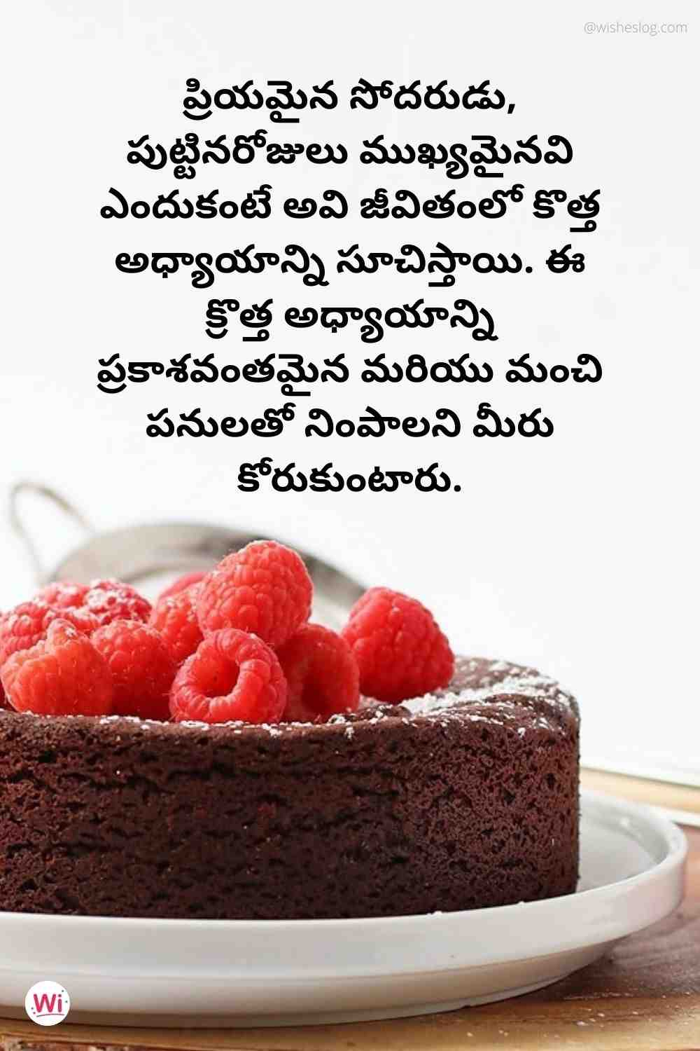 birthday wishes in telugu text for brother