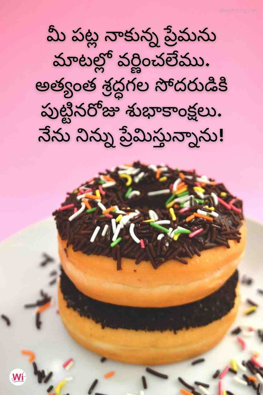 happy birthday in telugu for brother