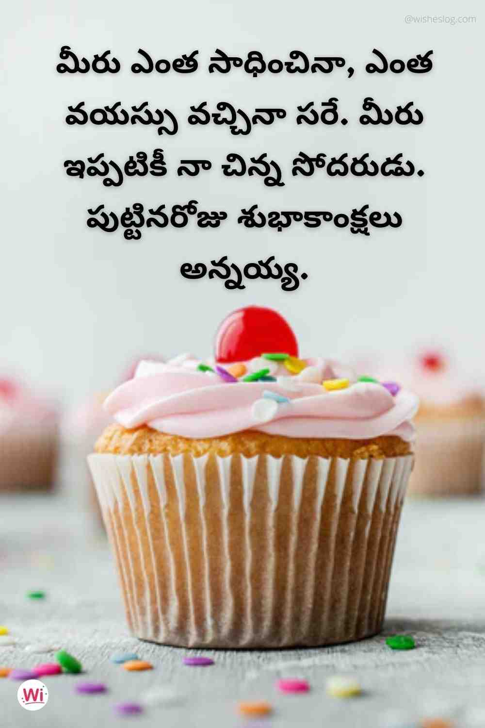 happy birthday quotes in telugu for younger brother