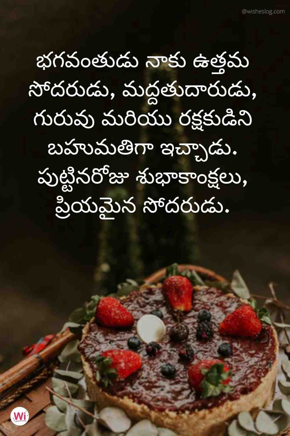 happy birthday wishes in telugu text for brother