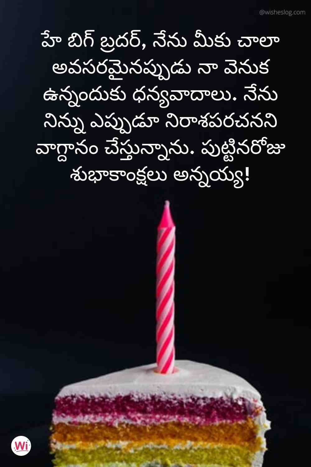 wish you happy birthday in telugu for brother