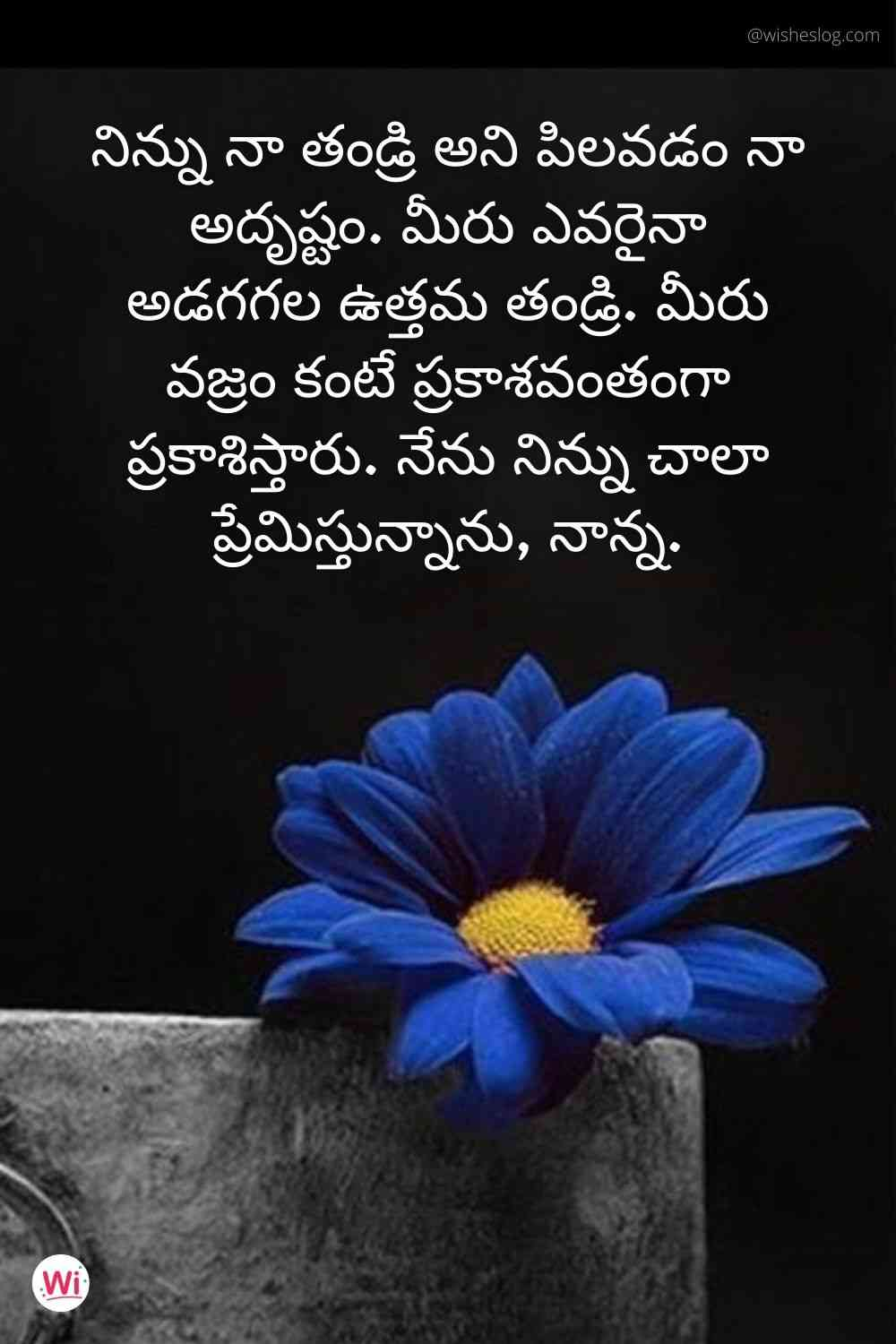 birthday quotes in telugu for father