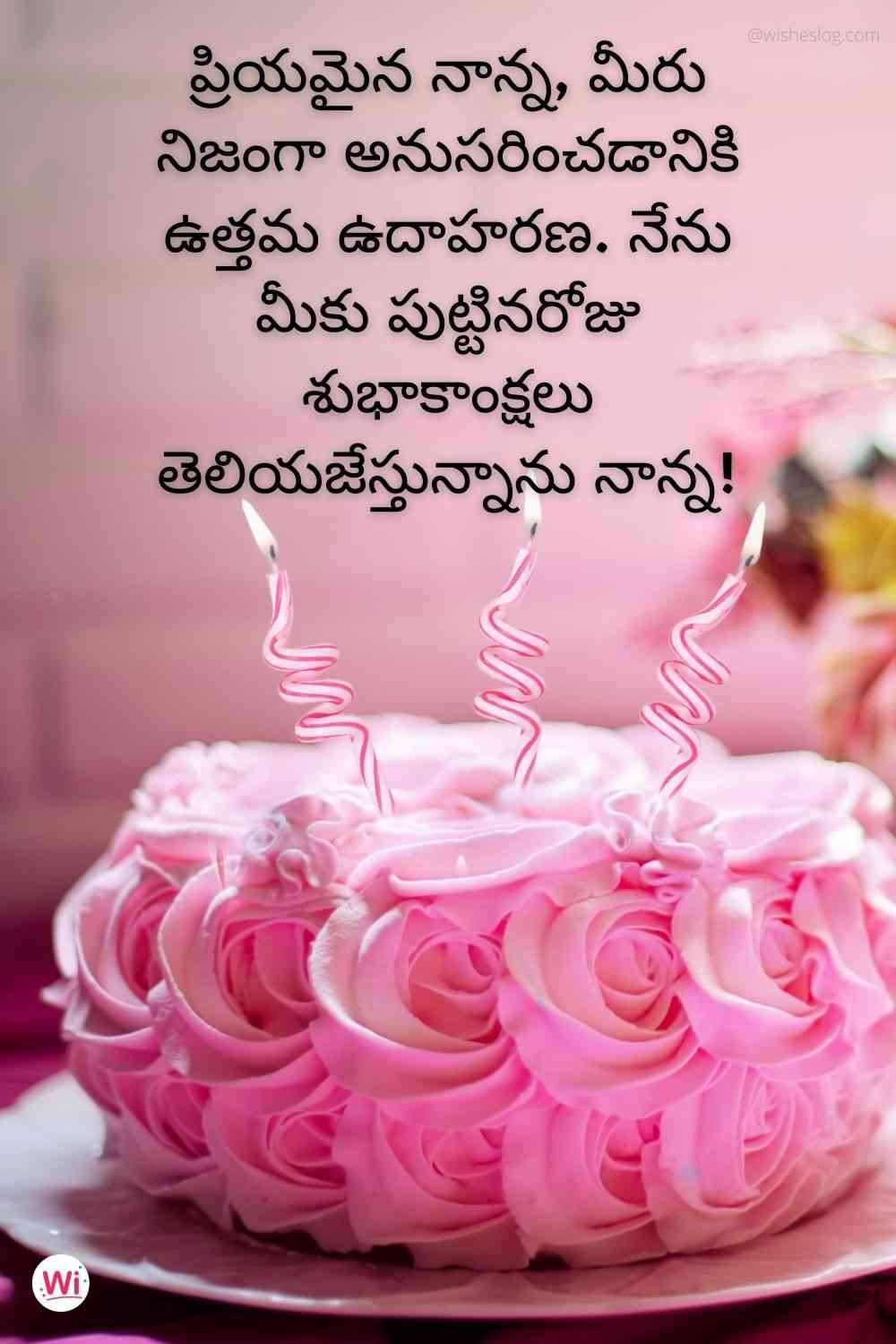 birthday wishes in telugu for father