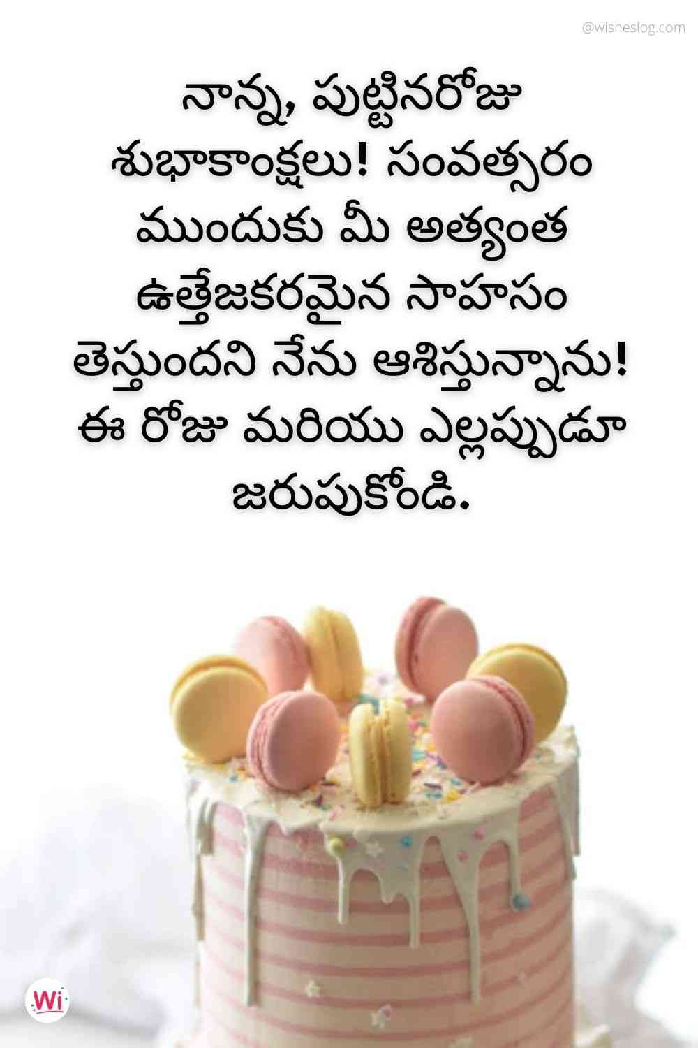 birthday wishes quotes in telugu for father
