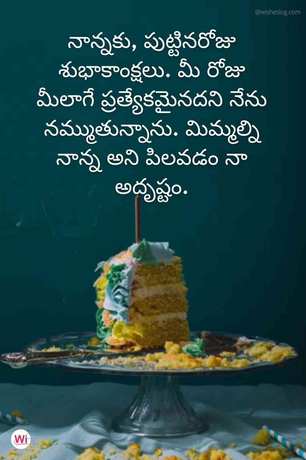 happy birthday images in telugu for papa