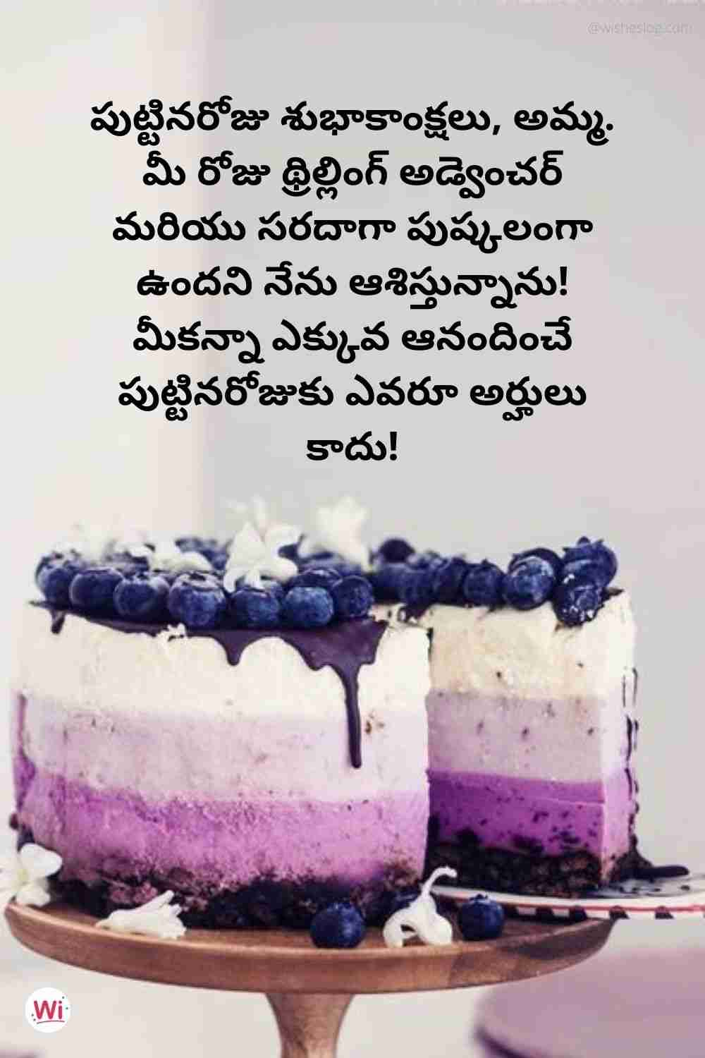 birthday wishes in telugu for mother