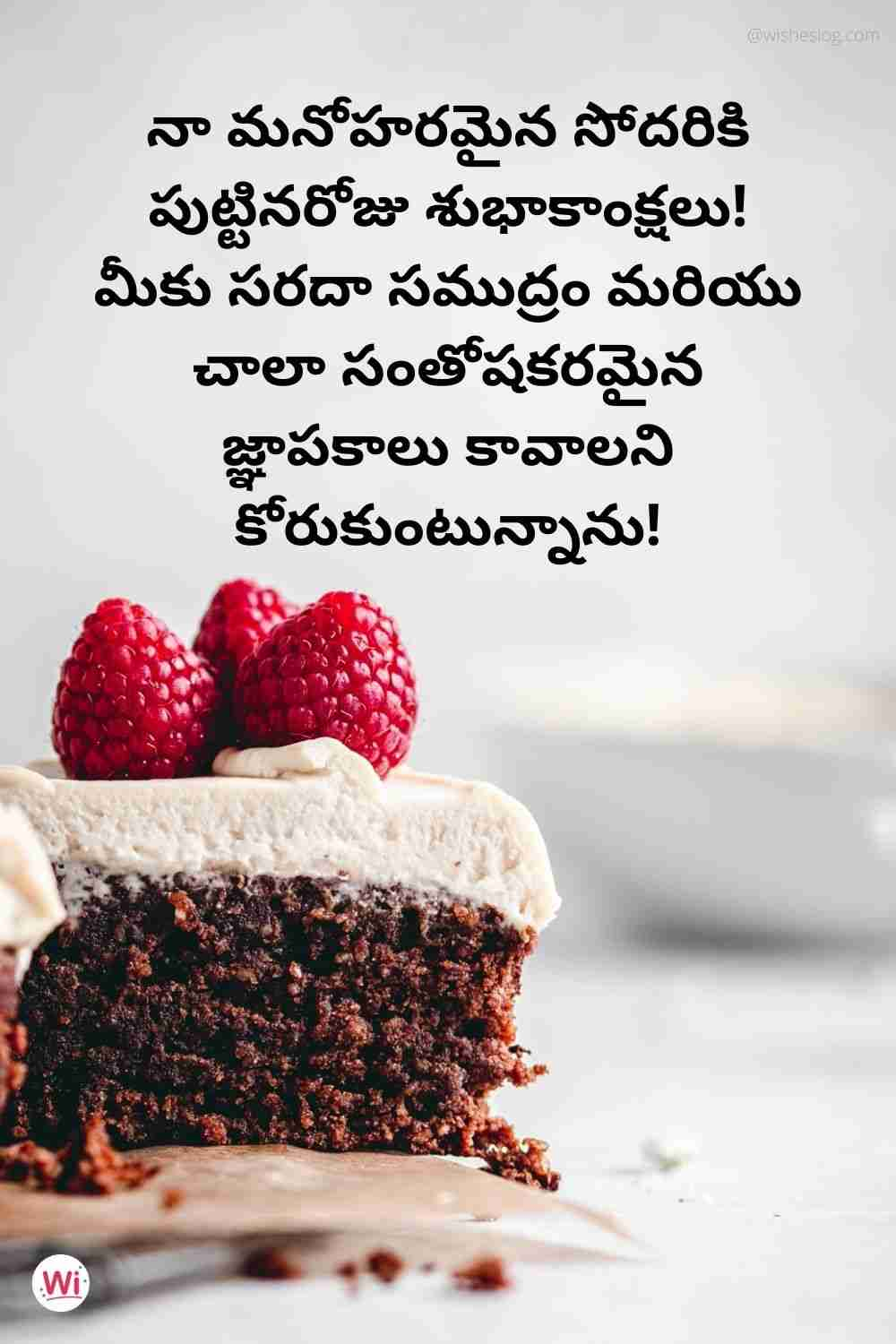 happy birthday quotes in telugu for sister