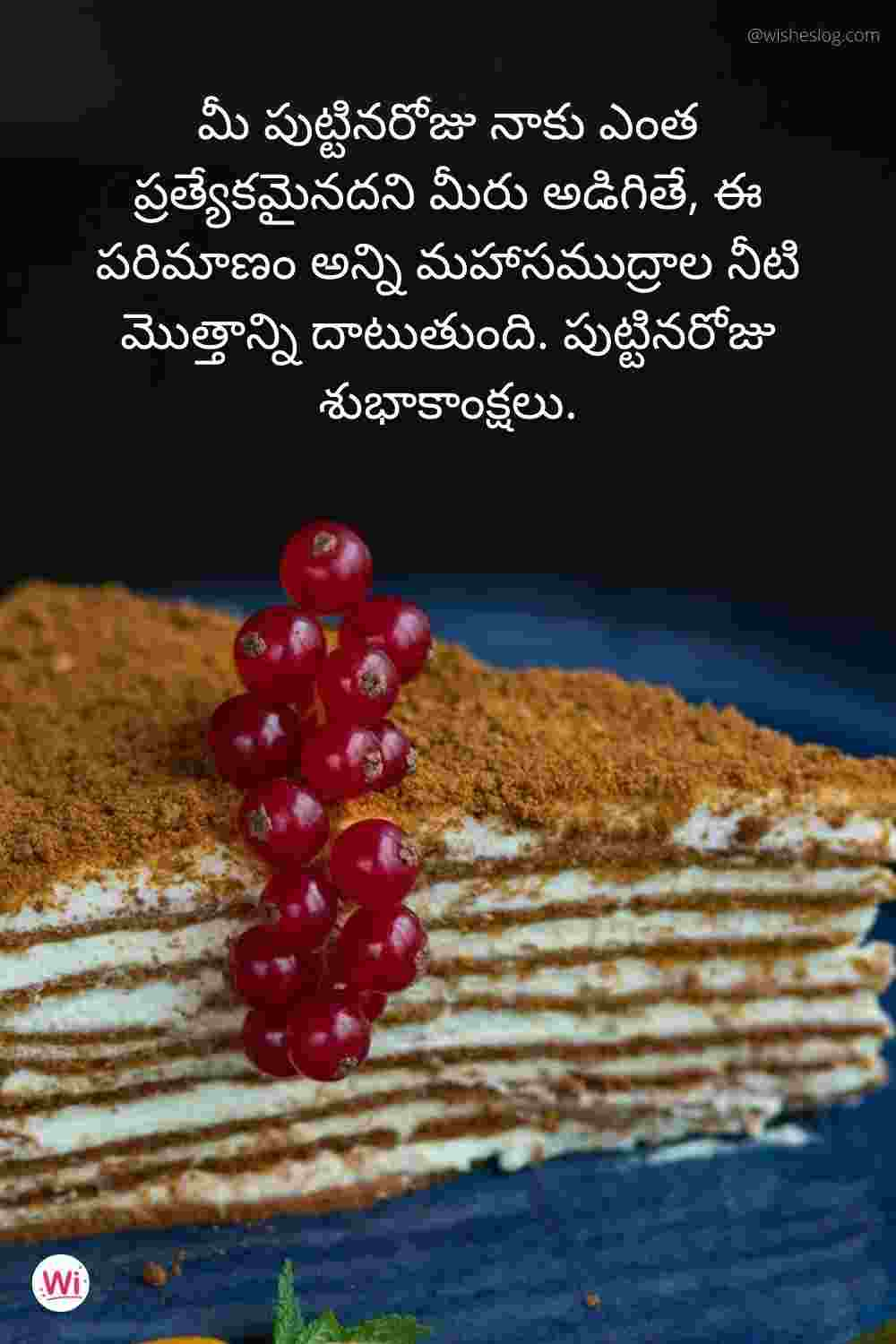 birthday quotations in telugu for wife
