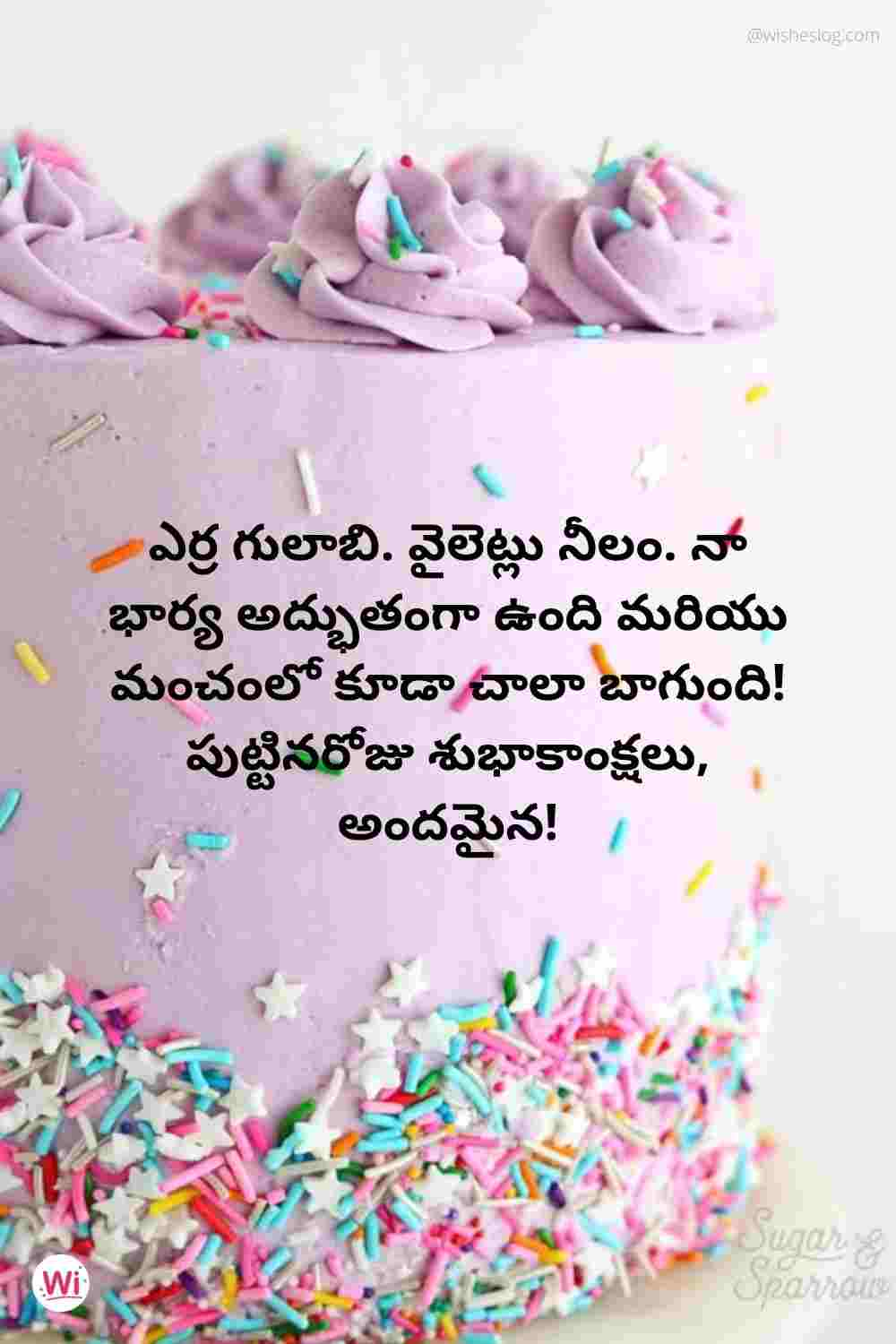 birthday wishes quotes in telugu wife