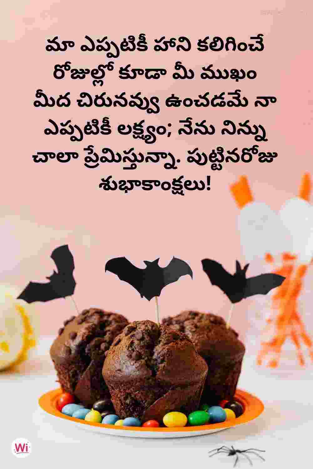 happy birthday to you in telugu for wife