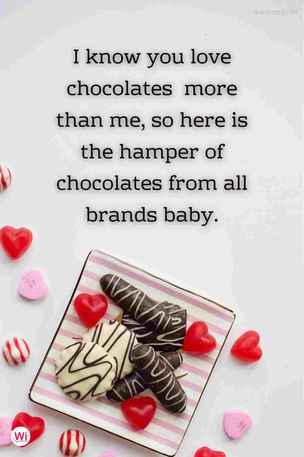 happy chocolate day for girlfriend