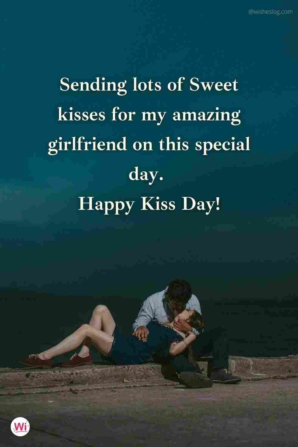 best kiss day wishes for girlfriend