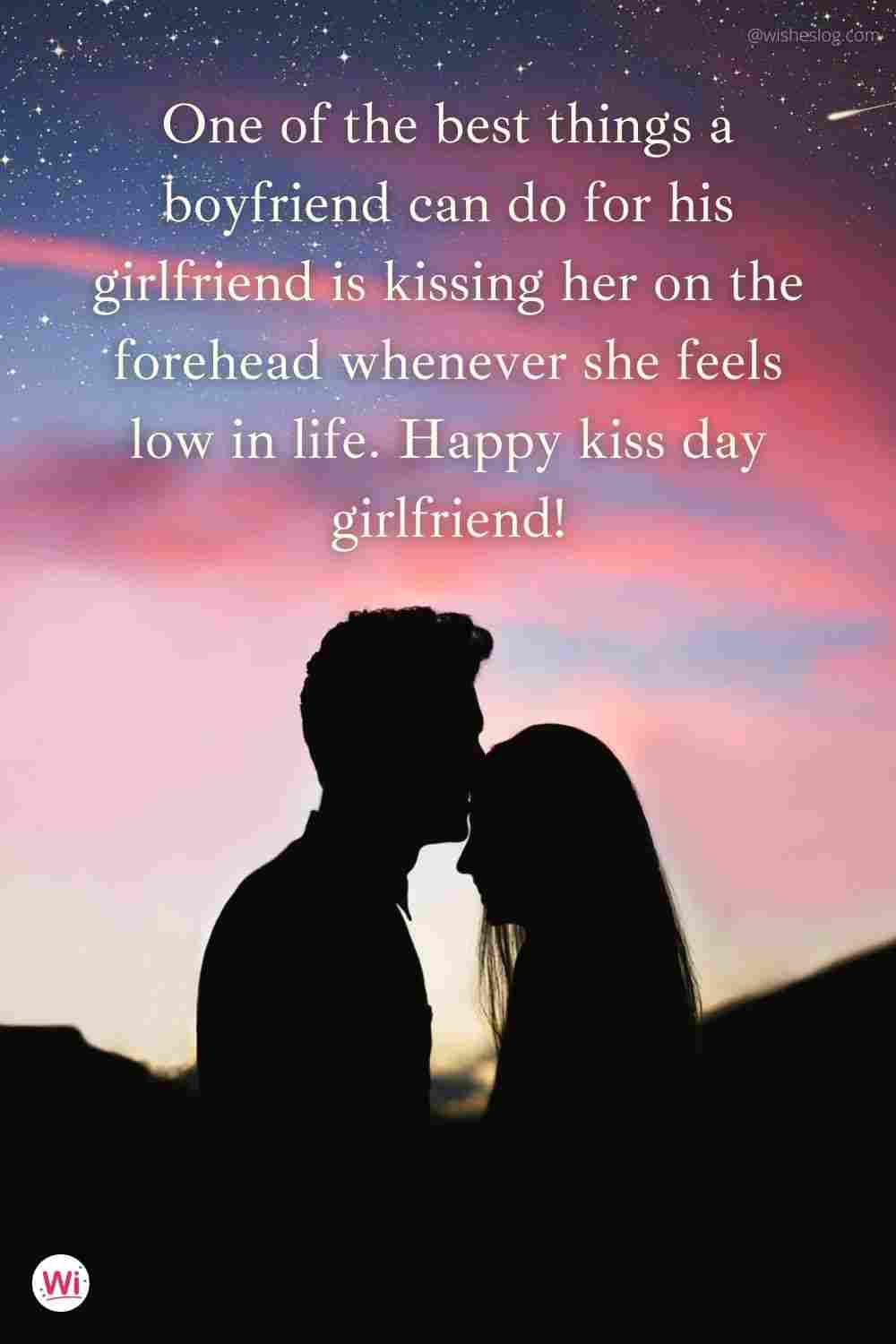 kiss day girlfriend wishes