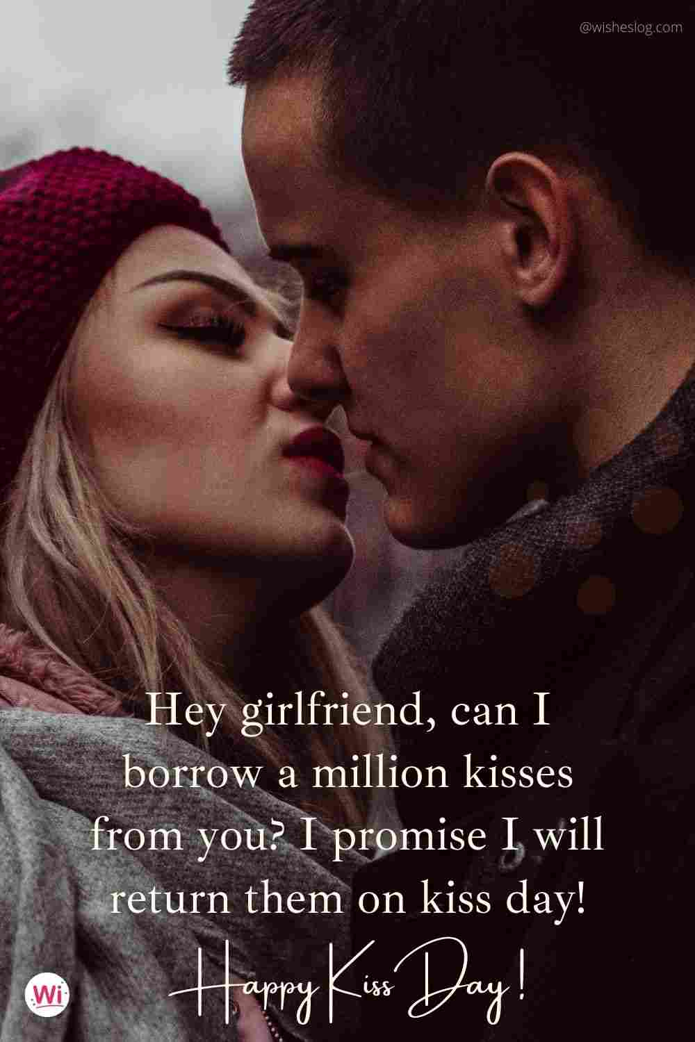 kiss day sms for girlfriend