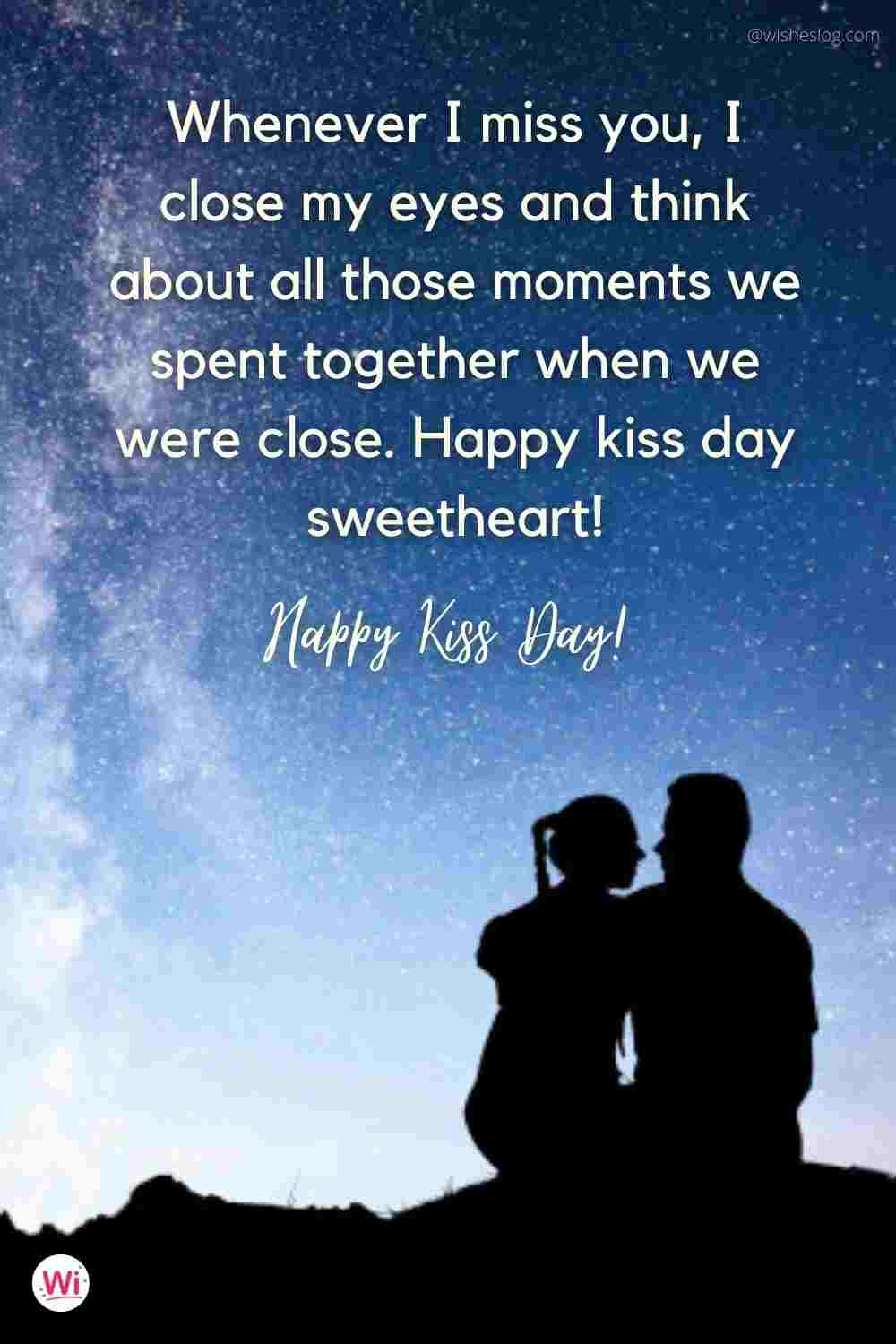 kiss day wishes for girlfriend