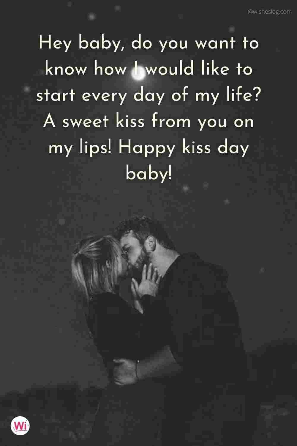 happy kiss day for friends