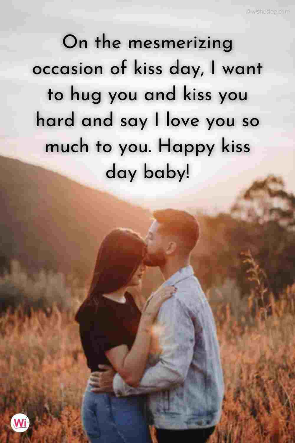 kiss day msg for husband