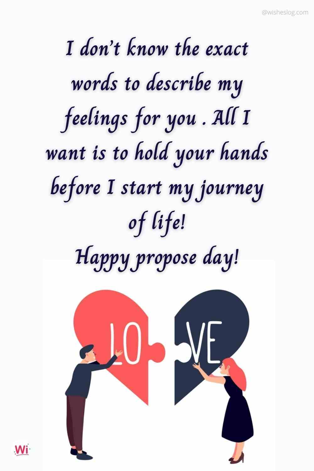 best propose day message