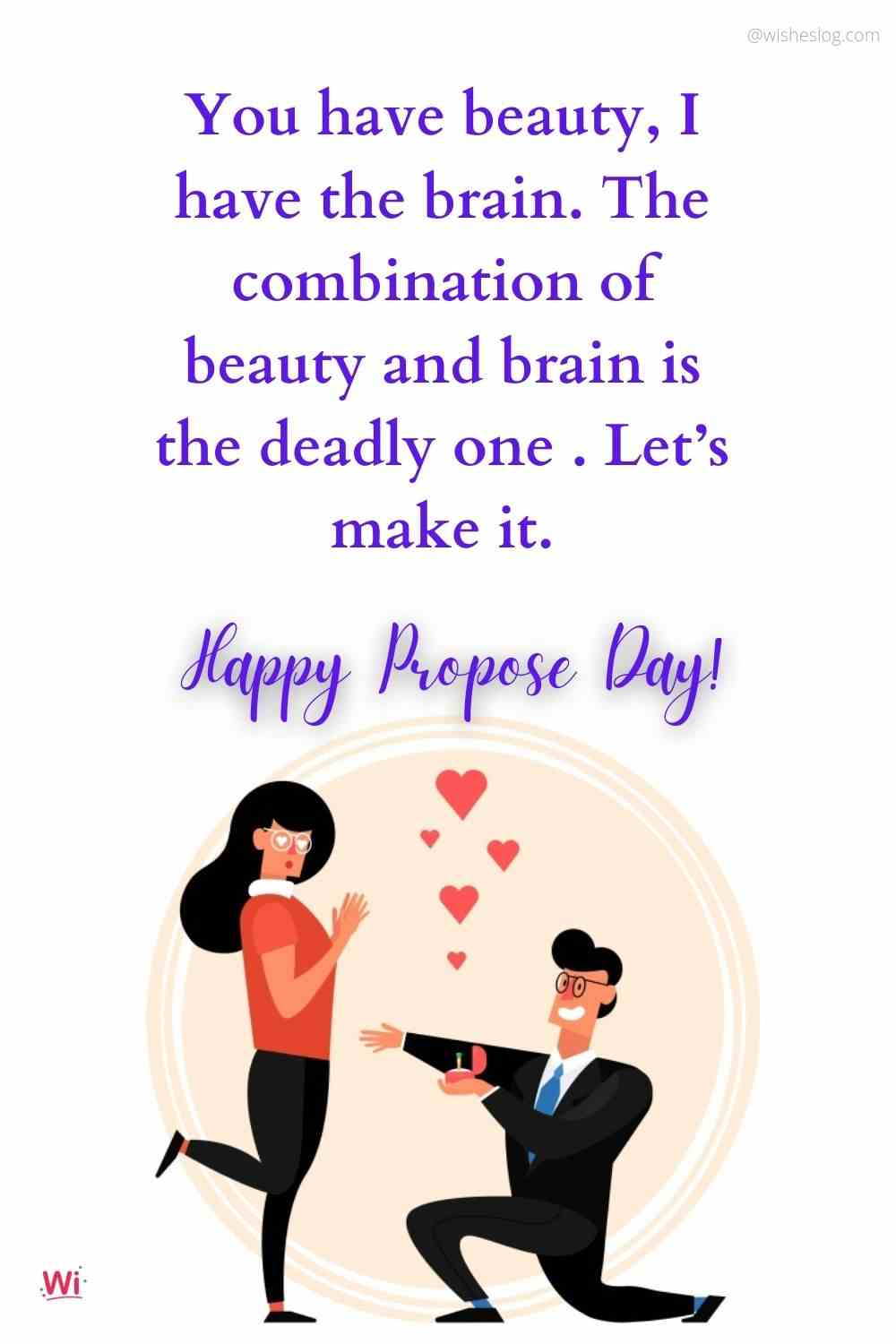 happy propose day msg for gf
